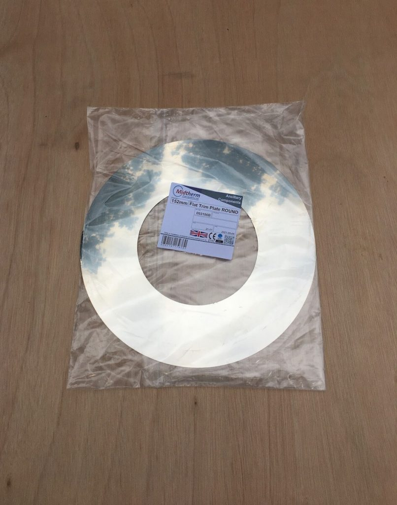 100mm Flat Round Trim Plate