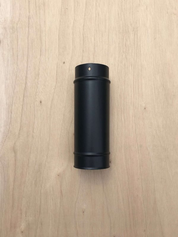 100mm-single-wall-flue-pipe-250mm-length-for-small-wood-stoves