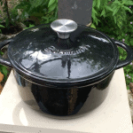 Black-cast-iron-enamelled-cook-pot-for-small-wood-stoves